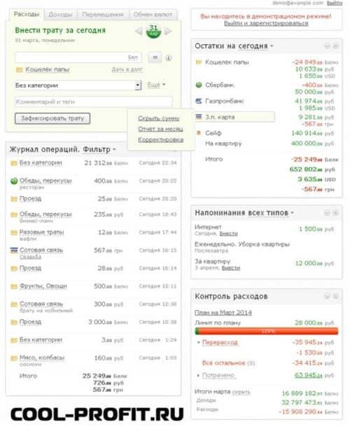 домашняя бухгалтерия дребеденьги для сайта cool-profit.ru