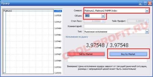 покупка индекса forex trend или пантеон финанс в Meta Trader для cool-profit.ru