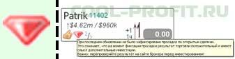 не было зафиксировано просадки по открытым сделкам investflow для cool-profit.ru