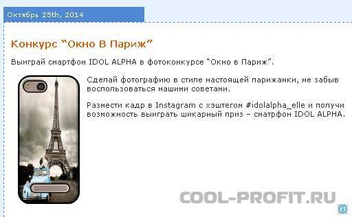 Пример фотоконкурса (cool-profit.ru)