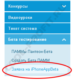 раздел личного кабинета пантеон финанс - бета-тестирование (для cool-profit.ru)