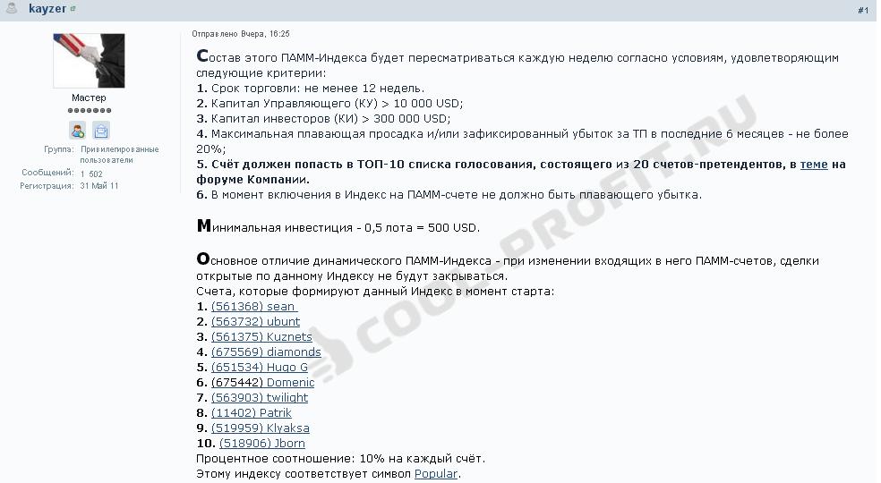 Динамический индекс Popular (Народный) (cool-profit.ru)
