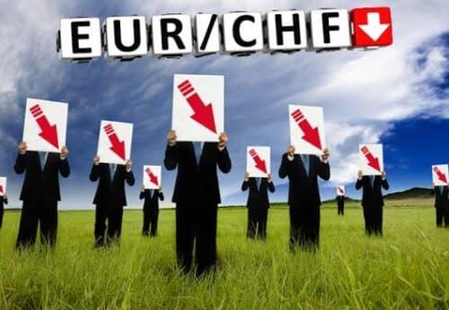 Падение курса валютной пары EUR CHF (для cool-profit.ru)
