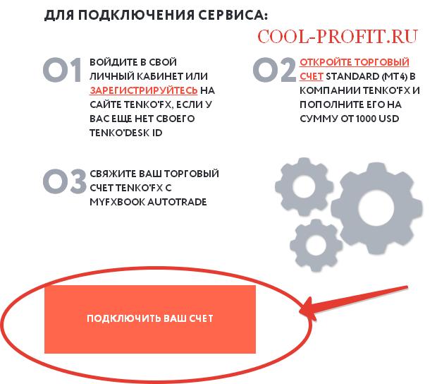 Подключить счет к сервису Autotrade (для cool-profit.ru)