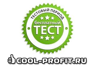 Бесплатный тестовый период (для cool-profit.ru)
