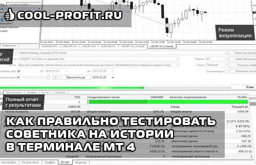 Как правильно тестировать советника на истории в терминале MetaTrader 4 (cool-profit.ru)