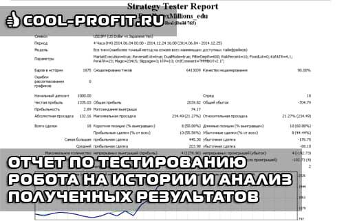 Отчет по тестированию робота на истории и анализ полученных результатов (cool-profit.ru)