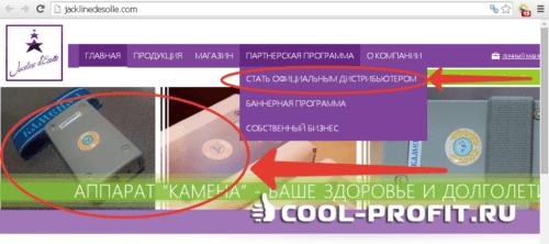 Сетевой маркетинг jacklinedesolle.com (для cool-profit.ru)