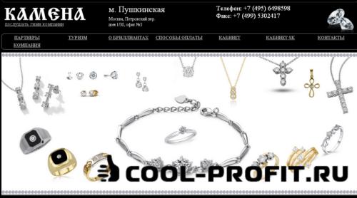 Старый дизайн МПО Камена (для cool-profit.ru)