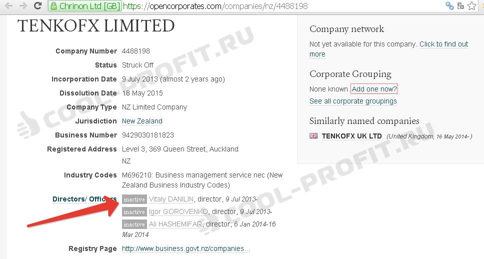 Данные по Tenko Fx New Zealand (для cool-profit.ru)