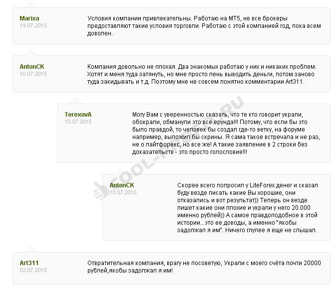 3 Отзывы о брокере LiteForex (для cool-profit.ru)