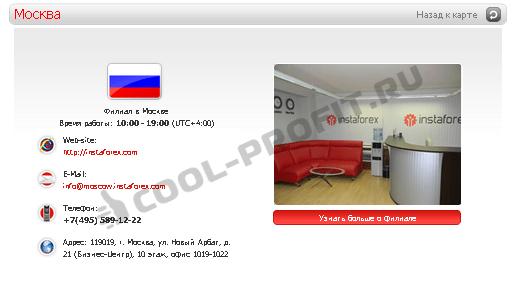 Представительство ИнстаФорекс в Москве (для cool-profit.ru)
