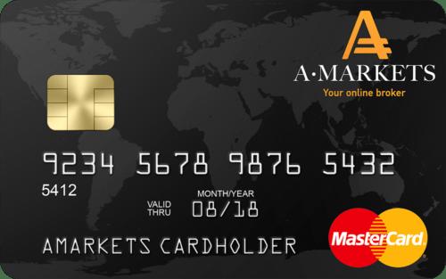 Дебетовая карта AMarkets Mastercard (для cool-profit.ru)